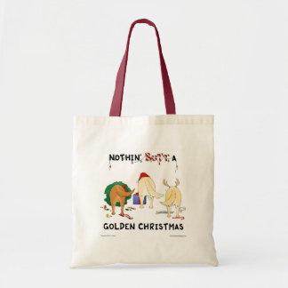 Nothin' Butt A Golden Christmas Tote Bag