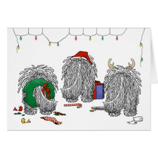 Nothin' Butt A Komondor Christmas Card