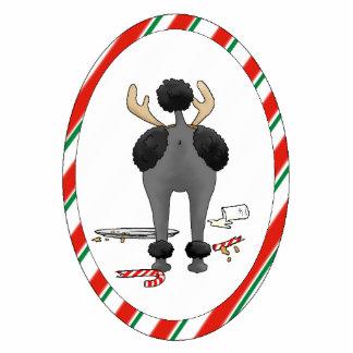 Nothin' Butt A Poodle Christmas Ornament Photo Sculpture Decoration