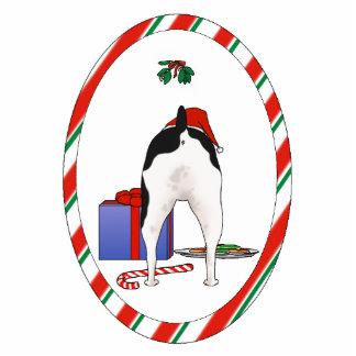 Nothin' Butt A Rat Terrier Christmas Ornament Photo Sculpture Decoration