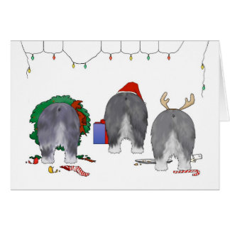 Nothin' Butt A Sheepdog Christmas Card