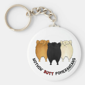 Nothin' Butt Pomeranians Key Ring