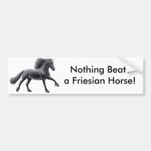 Nothing Beats a Friesian Bumper Sticker