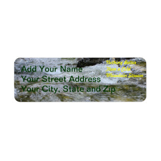 Nothing Better Than a Cold Mountain Stream Return Address Label