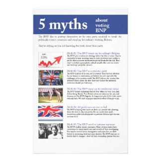 Nothing British Myths flyer