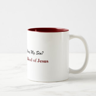 Nothing but the Blood of Jesus Two-Tone Coffee Mug
