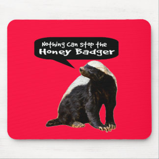 Nothing Can Stop the Honey Badger! (He speaks) Mouse Pad