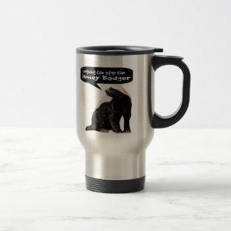Nothing Can Stop the Honey Badger! (He speaks) Stainless Steel Travel Mug