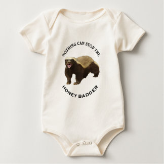 Nothing Can Stop the Honey Badger Image Baby Bodysuit