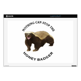 "Nothing Can Stop the Honey Badger Image Decal For 17"" Laptop"