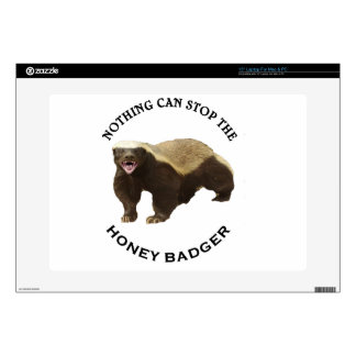 "Nothing Can Stop the Honey Badger Image Decals For 15"" Laptops"