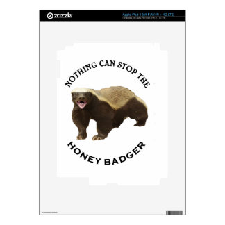 Nothing Can Stop the Honey Badger Image iPad 3 Skin