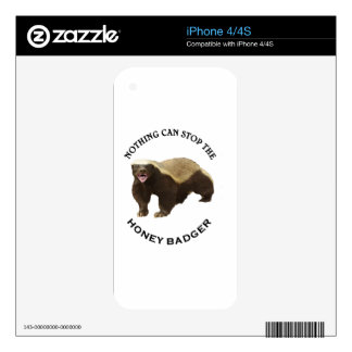 Nothing Can Stop the Honey Badger Image Skin For iPhone 4