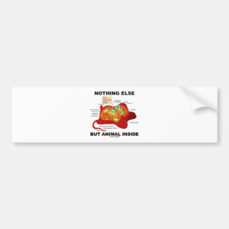 Nothing Else But Animal Inside (Eukaryotic Cell) Bumper Stickers