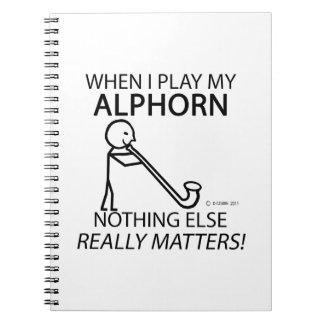 Nothing Else Matters Alphorn Note Books