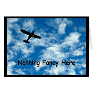 Nothing Fancy Here - A Plane Congratulations Card! Card