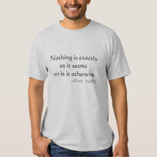 Nothing is exactly as it seems shirt