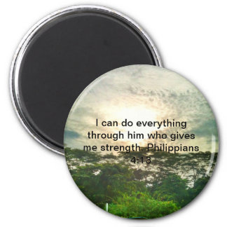 Nothing is impossible 6 cm round magnet