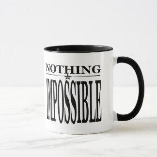 Nothing is Impossible Cheerleading Mug in Black