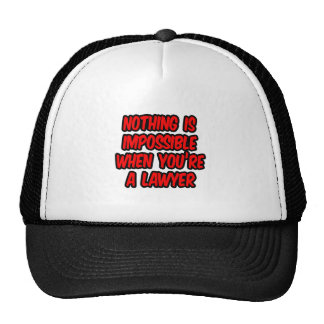 Nothing Is Impossible...Lawyer Mesh Hats