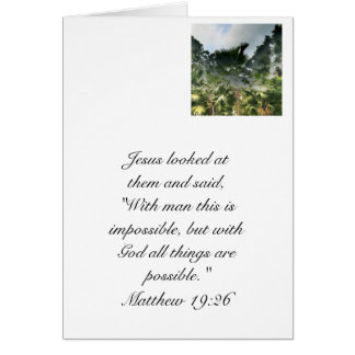 Nothing is impossible. note card