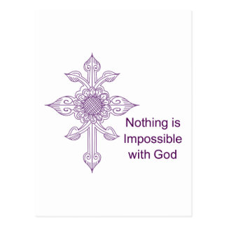 NOTHING IS IMPOSSIBLE POSTCARD