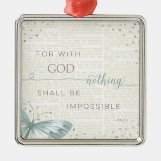 Nothing Is Impossible Silver-Colored Square Decoration