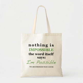 Nothing is Impossible: STRONGER THAN CANCER bag