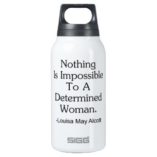 Nothing Is Impossible to a Determined Woman 0.3L Insulated SIGG Thermos Water Bottle