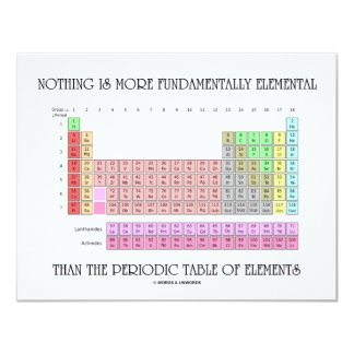 Nothing Is More Fundamentally Elemental Periodic T 11 Cm X 14 Cm Invitation Card
