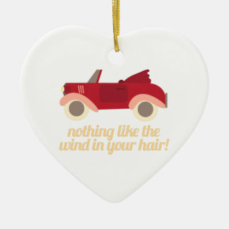Nothing Like The Wind In Your H Ceramic Ornament