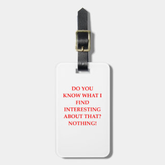 NOTHING LUGGAGE TAG