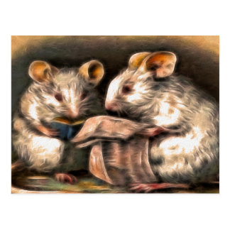 """Nothing on TV Tonight"" Mice Postcard"