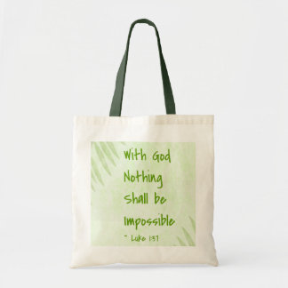 Nothing Shall Be Impossible Palm Budget Tote Bag