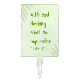 Nothing Shall Be Impossible Palm Cake Toppers