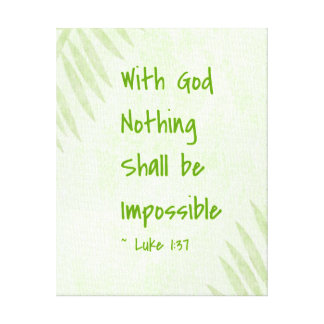 Nothing Shall Be Impossible Palm Stretched Canvas Prints
