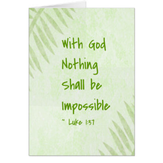 Nothing Shall Be Impossible Palm Cards