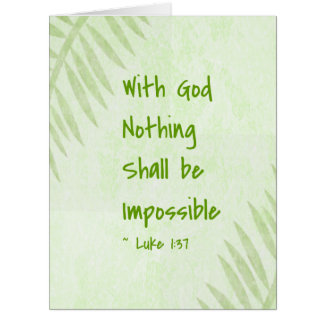 Nothing Shall Be Impossible Palm Greeting Card
