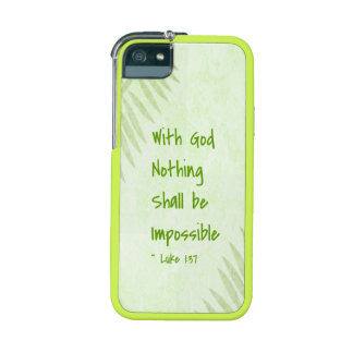 Nothing Shall Be Impossible Palm Case For iPhone 5