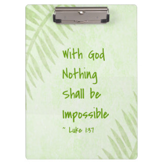 Nothing Shall Be Impossible Palm Clipboards