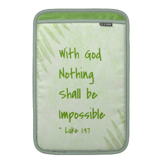Nothing Shall Be Impossible Palm MacBook Sleeve
