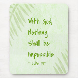 Nothing Shall Be Impossible Palm Mouse Pad