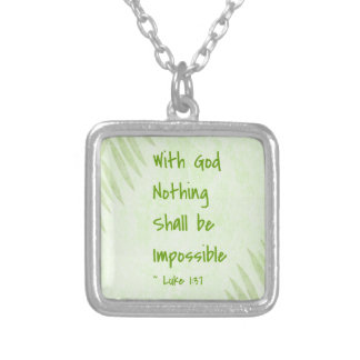 Nothing Shall Be Impossible Palm Custom Necklace