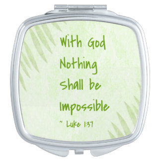 Nothing Shall Be Impossible Palm Compact Mirrors