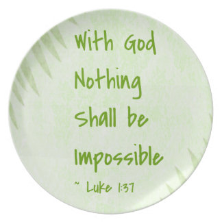 Nothing Shall Be Impossible Palm Party Plates