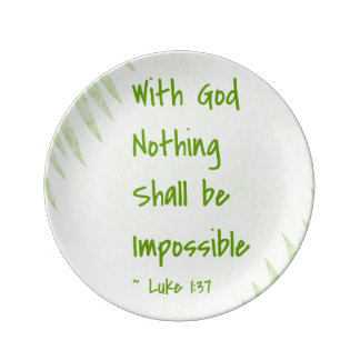 Nothing Shall Be Impossible Palm Porcelain Plates