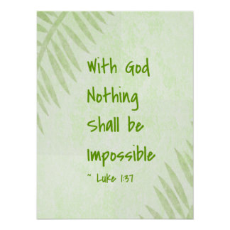 Nothing Shall Be Impossible Palm Poster