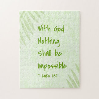 Nothing Shall Be Impossible Palm Jigsaw Puzzle