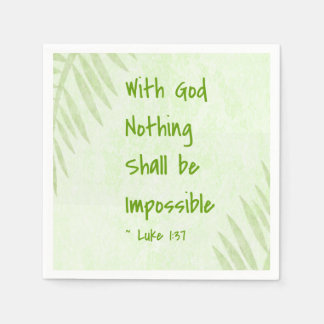 Nothing Shall Be Impossible Palm Disposable Napkin