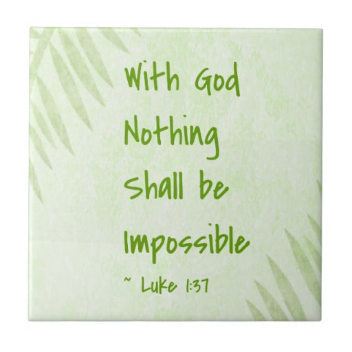 Nothing Shall Be Impossible Palm Ceramic Tiles